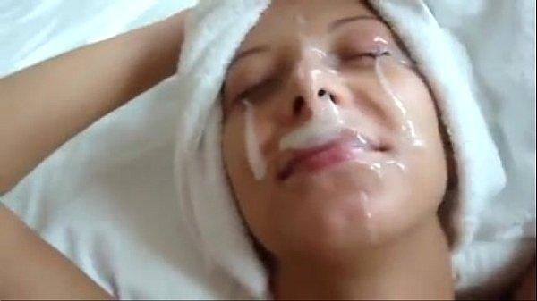 Брызги спермы на лицо вк