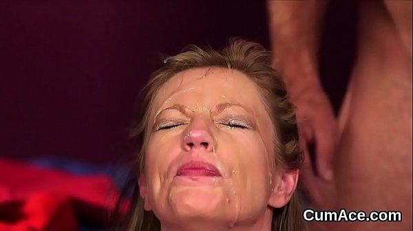 Сперма на лице ки